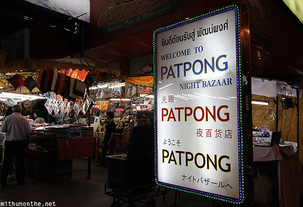 Khu phố đèn đỏ chợ đêm Patpong – Thái Lan