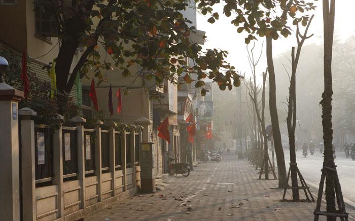 Ngày đầu năm mới 2015 trên phố xá ở Hà Nội
