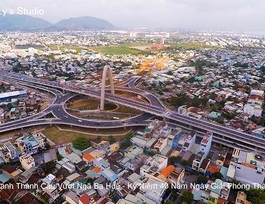 Cầu vượt lung linh đẹp nhất Việt Nam trong nhìn đêm từ trên cao