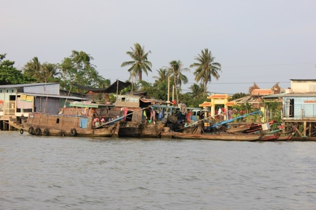 Ngắm sông nét đẹp nước mênh mông trên chợ nổi Cái Bè